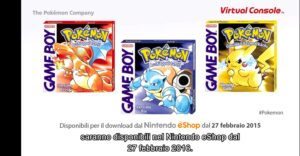 Pokémon Rosso Giallo su Virtual Console