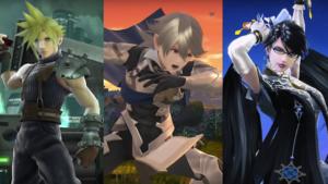 Cloud, Corrin e Bayonetta