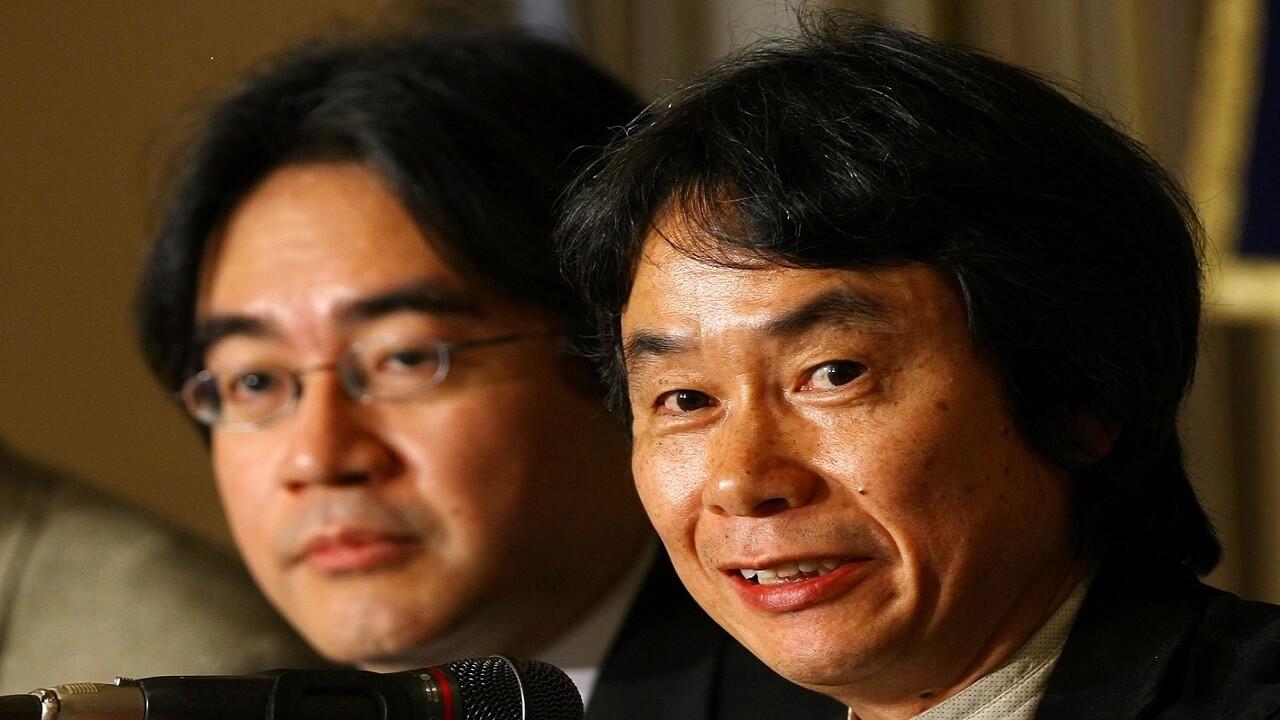 Satoru Iwata Shigeru Miyamoto NintendOn