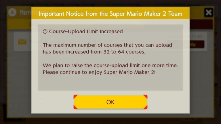 Super Mario Maker 2 NintendOn raddoppio caricamento livelli 64