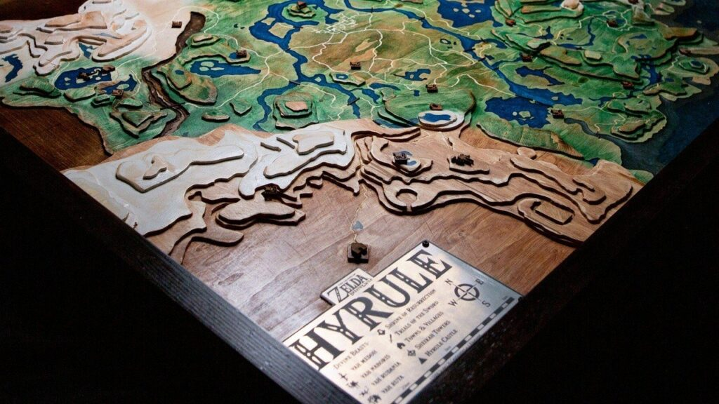 The Legend of Zelda 3d Mappa Legno