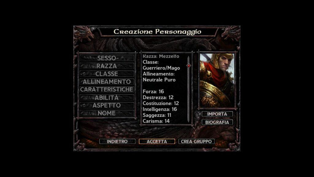 Baldur's Gate - Mezz'elfo Mago Guerriero