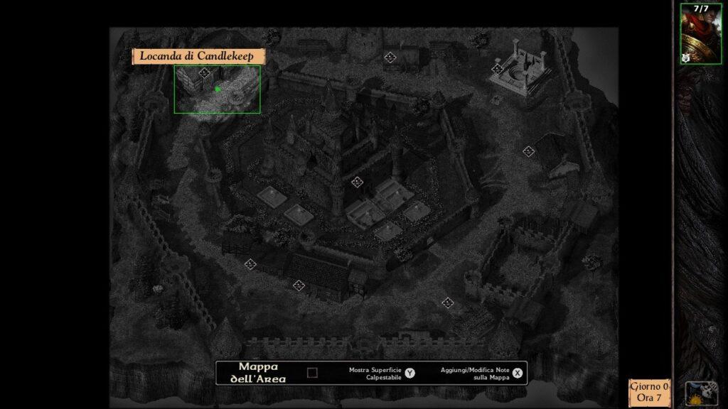 Mappa Candlekeep Baldur's Gate